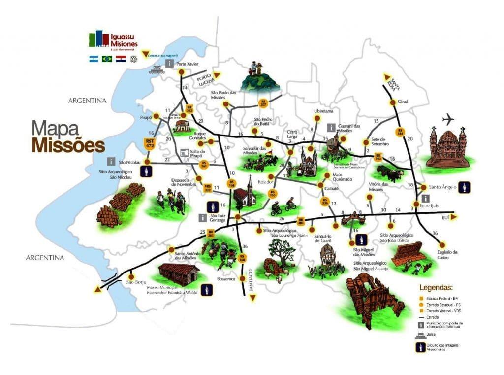 Mapa das Missões