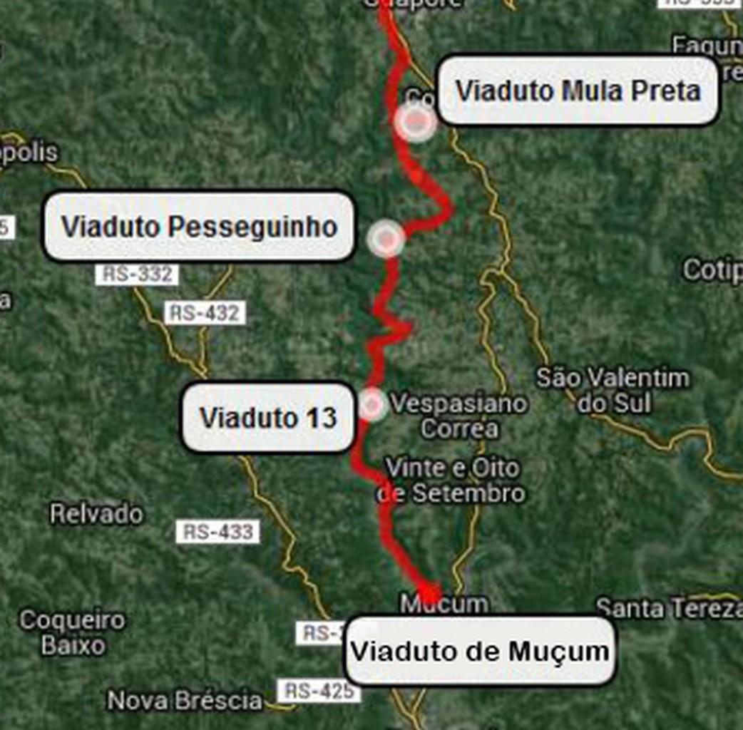 localização viadutos